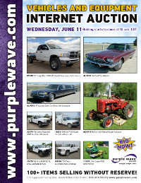 View June 11 Vehicles and Equipment Auction flyer