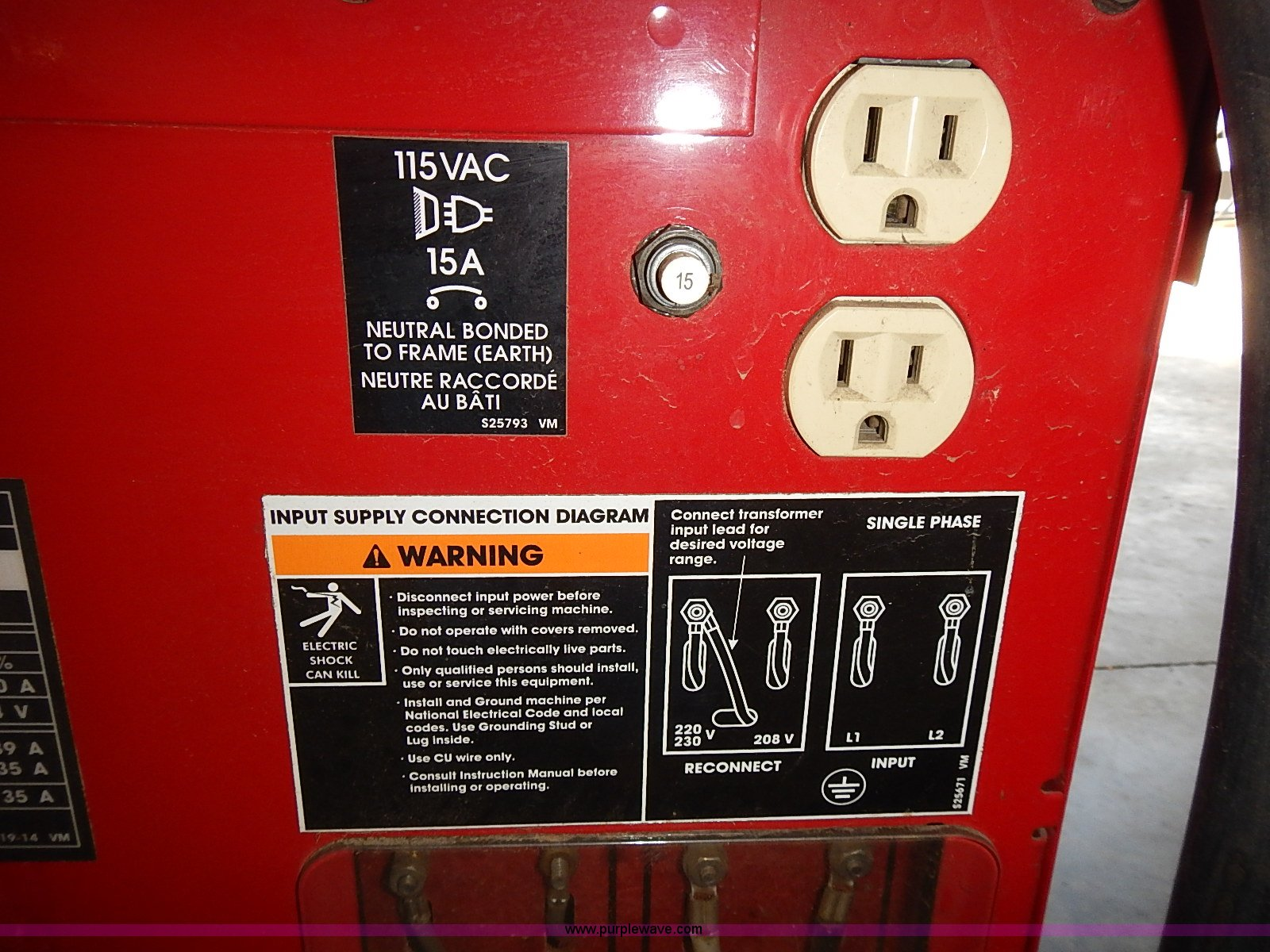 Lincoln Electric Power Mig 215 Welder Item Az9988 Sold Wiring Diagram Full Size In New Window