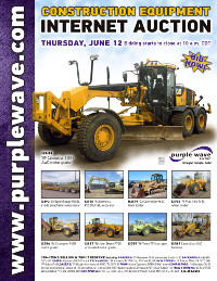 View June 12 Construction Equipment Auction flyer