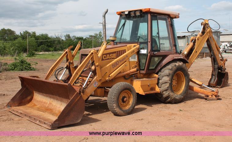 Case 580 Backhoe >> 1992 Case 580 Super K Construction King Backhoe Item H5655