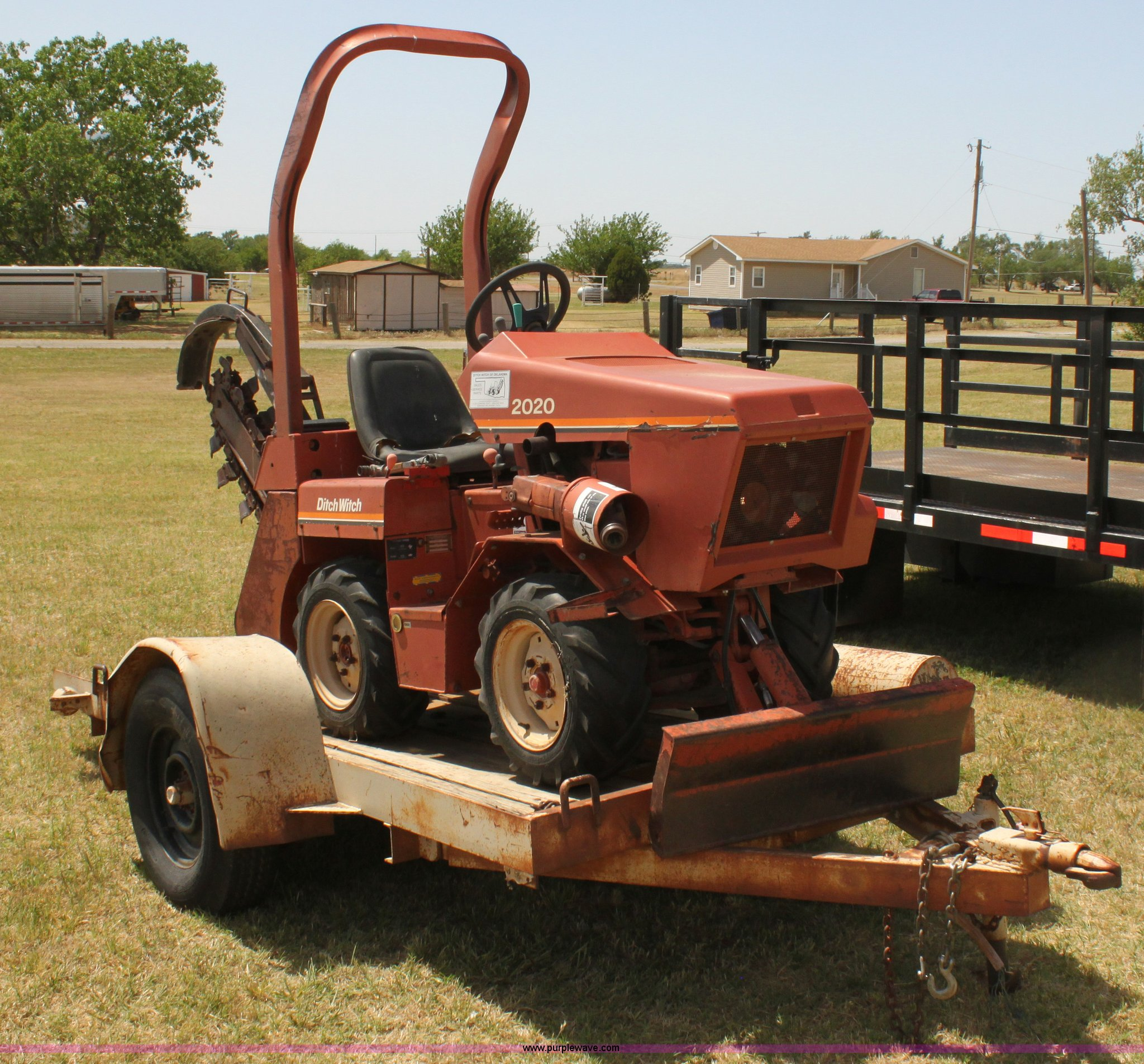 Ditch Witch 2020 trencher | Item I7459 | SOLD! June 12 Const