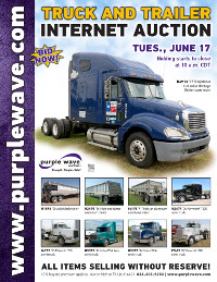 View June 17 Truck and Trailer Auction flyer