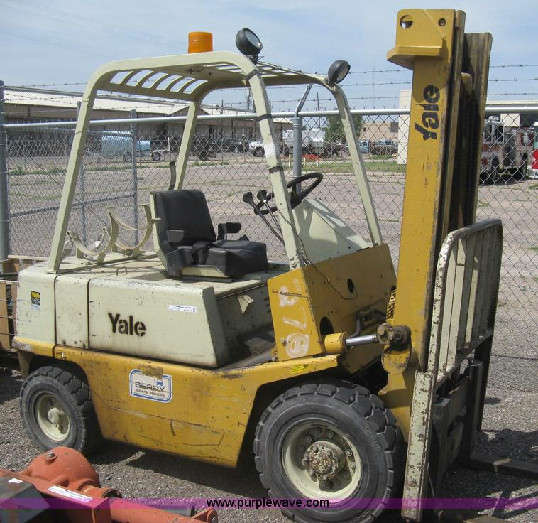 Yale Gas Forklift Manual Operating manual