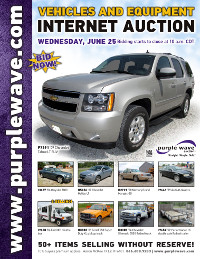 View June 25 Vehicles and Equipment Auction flyer