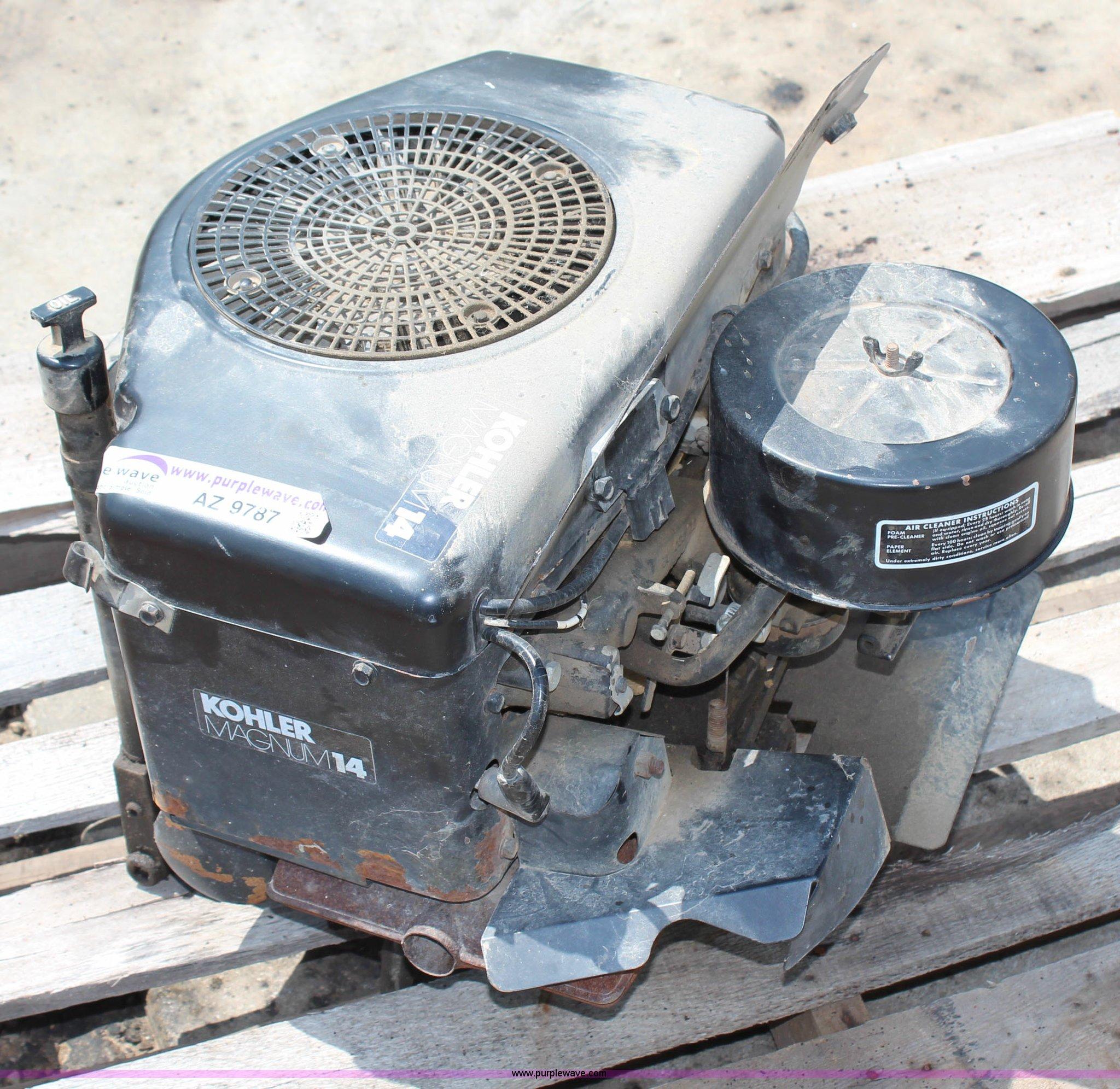 Kohler Magnum 14 HP gas engine | Item AZ9787 | SOLD! June 25