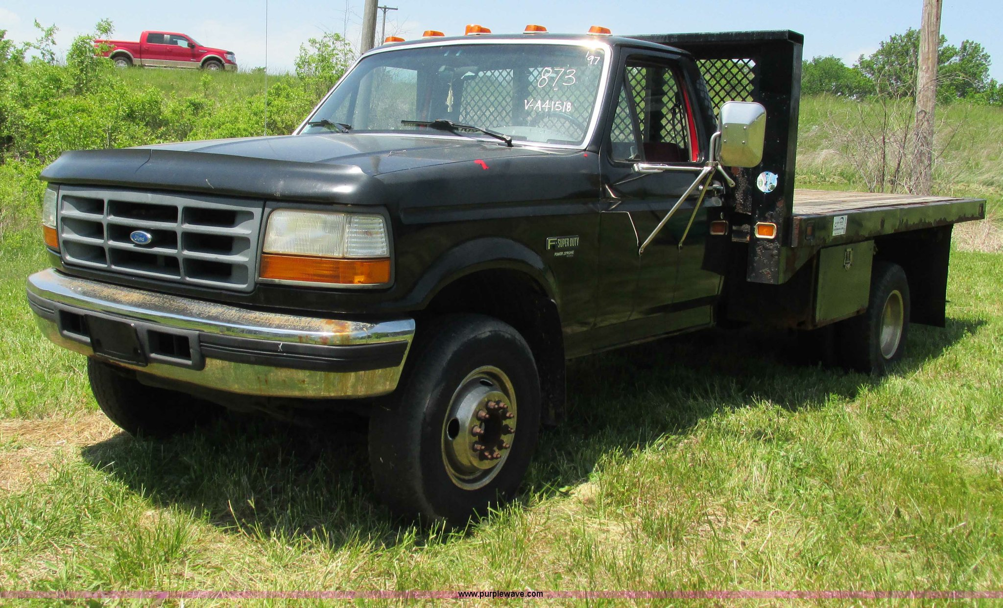 1997 Ford F450 Super Duty flatbed truck | Item G9298 | SOLD!...