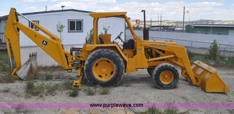 John Deere 500c Backhoe Item F2004 Sold June 26