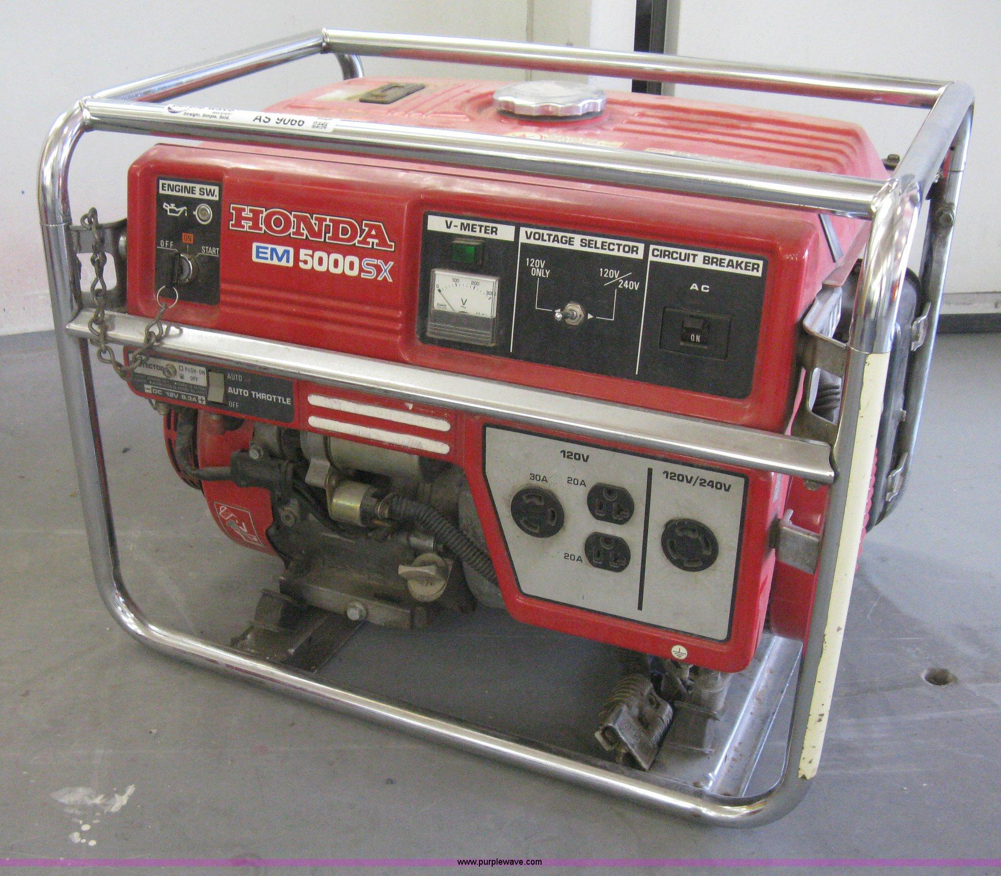 Honda EM5000SX generator Item AS9066