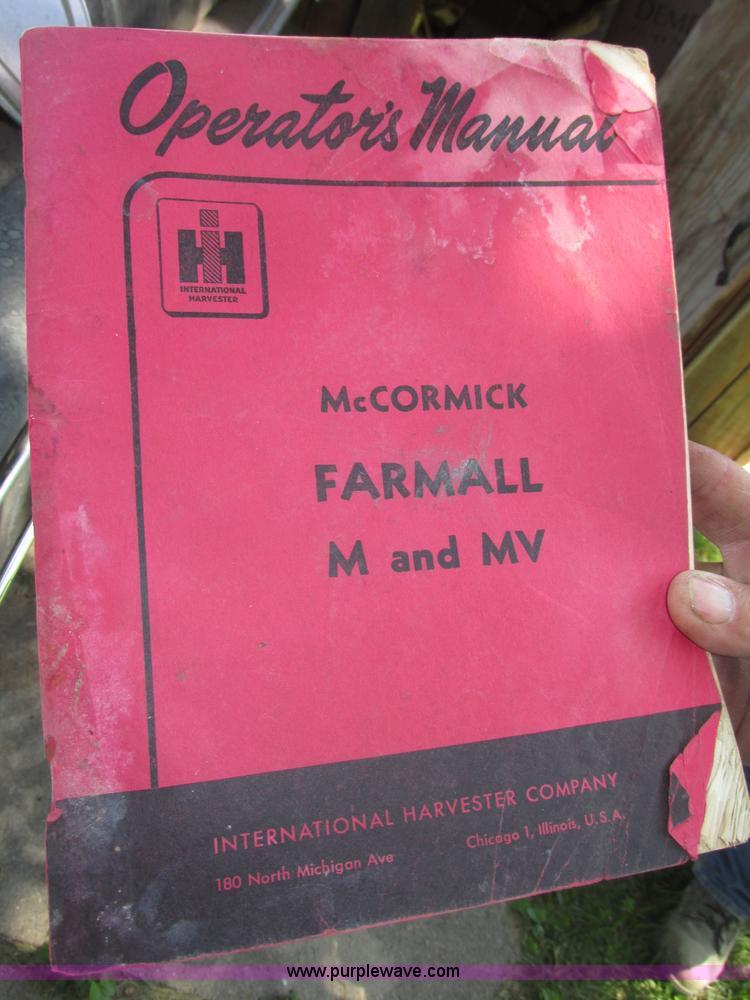 1952 Mccormick Farmall M row crop tractor | Item F7405 | SOL