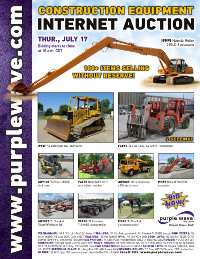 View July 17 Construction Equipment Auction flyer