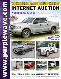 View July 23 Vehicles and Equipment Auction flyer