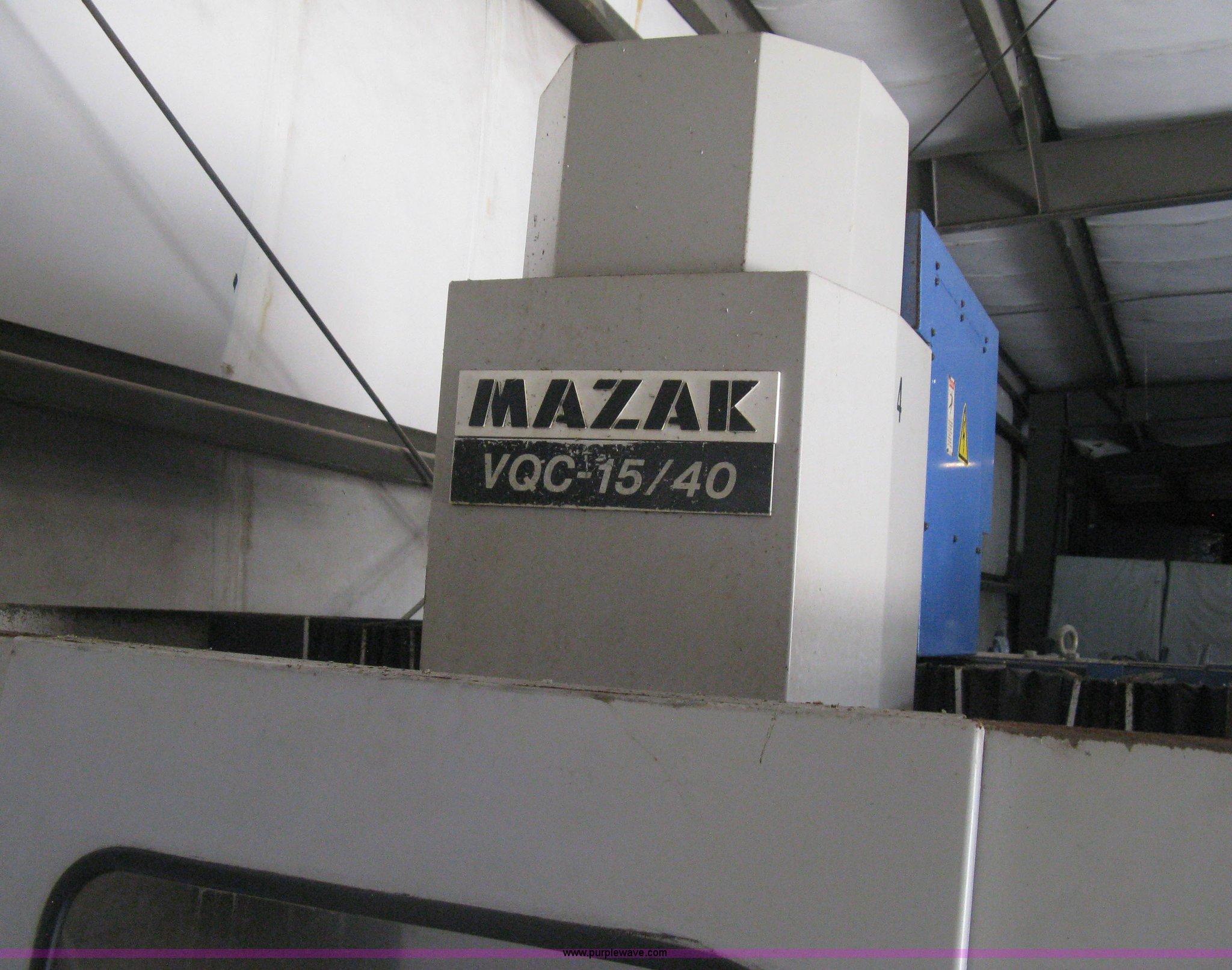 Mazak VQC-15/40 CNC mill   Item H5360   SOLD! July 23 Vehicl