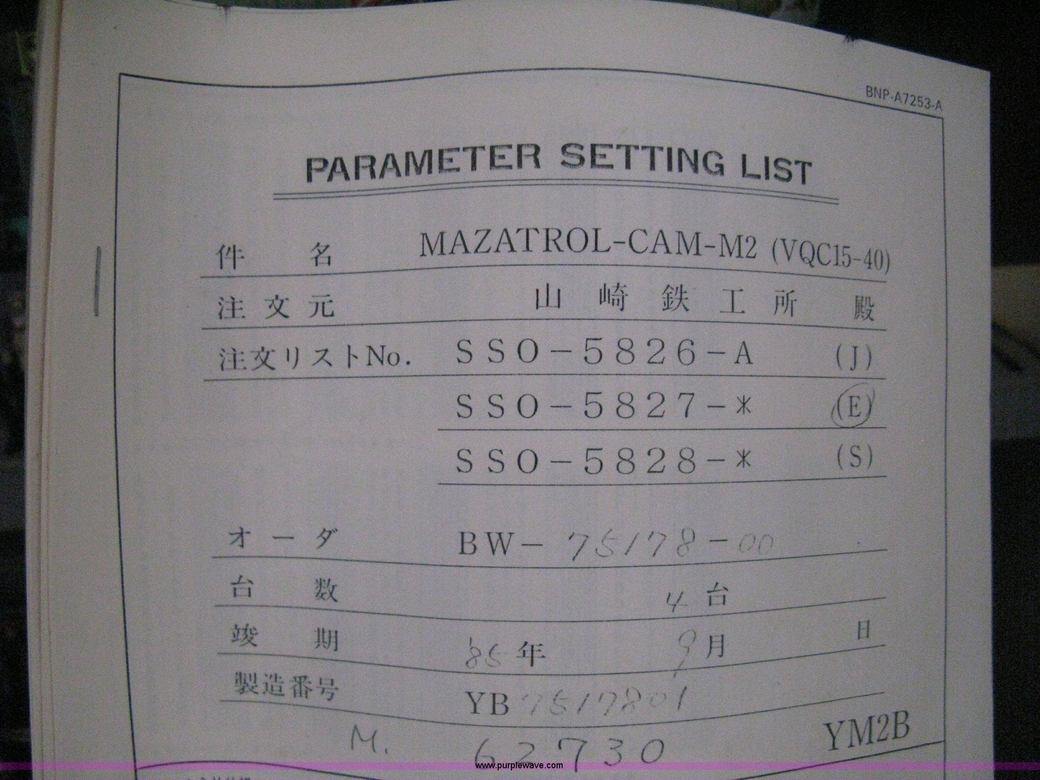 Mazak VQC-15/40 CNC mill | Item H5360 | SOLD! July 23 Vehicl