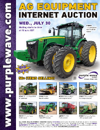 View July 30 Ag Equipment Auction flyer