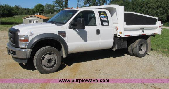 2008 ford f550 supercab dump bed truck item f4944 sold!f4944 image for item f4944 2008 ford f550 supercab dump bed truck