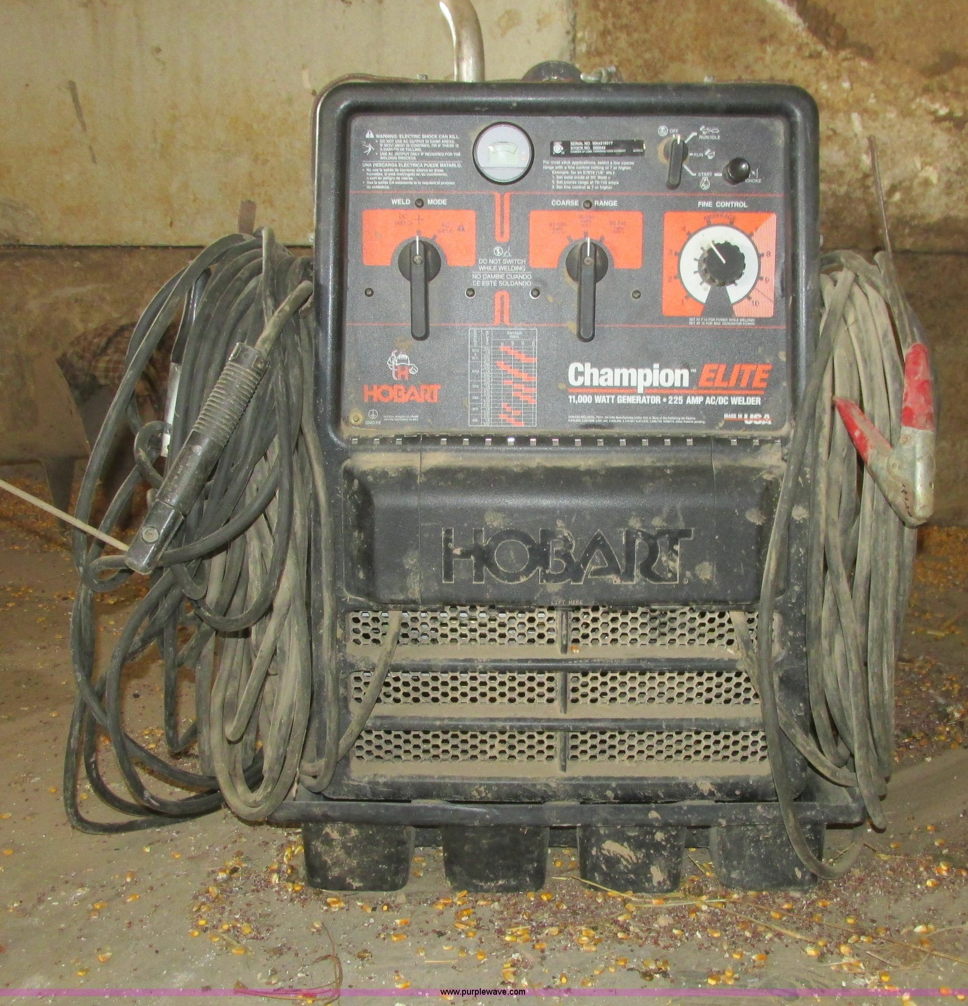 hobart champion elite welder generator item az9586 sold rh purplewave com