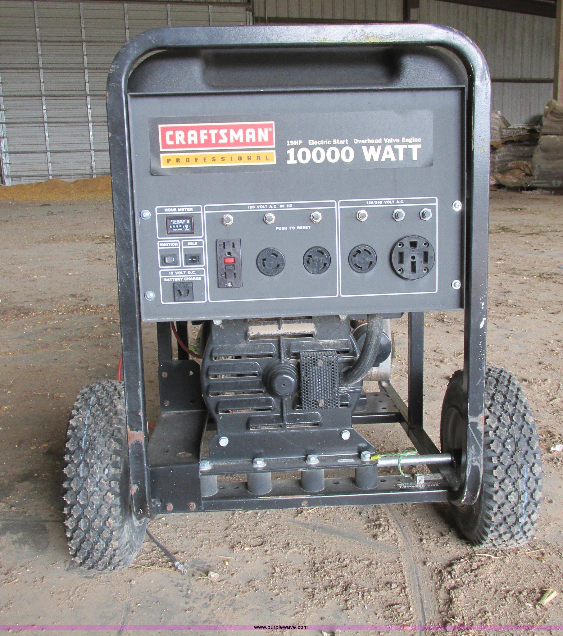 Craftsman 580 generator Item AZ9587