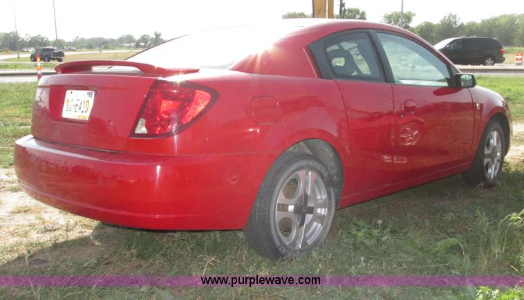 2003 Saturn Ion Quad Coupe 3 Item F7461 Sold August 20