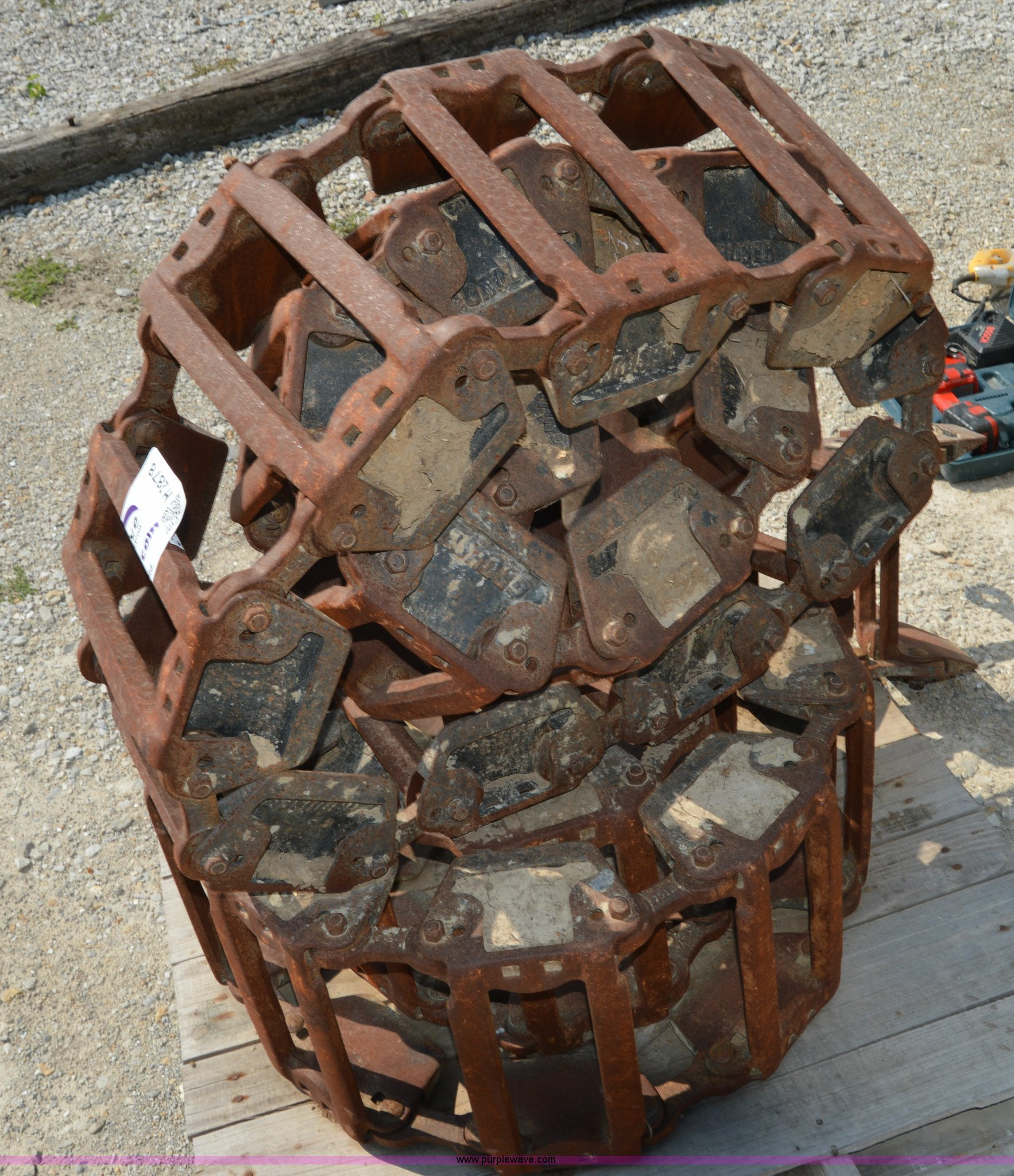 Grouser Steel Skid Steer Tracks Item H2878 Sold August