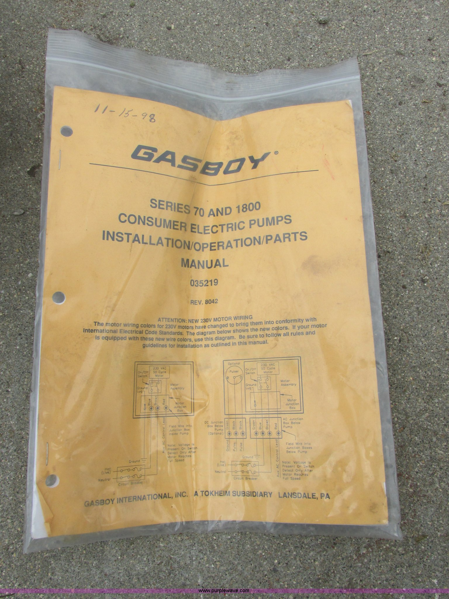I6204E gasboy 1820 fuel pump item i6204 sold! august 20 vehicle gasboy fuel pump wiring diagram at virtualis.co