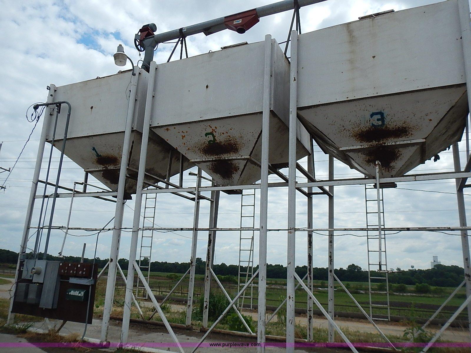 7) 12 ton overhead bulk bins | Item BA9705 | SOLD! August 2