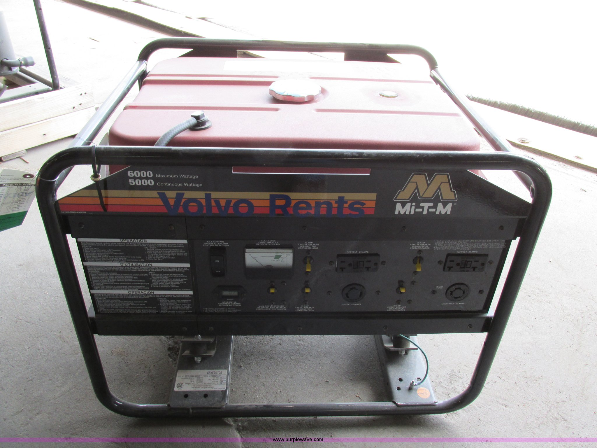 Portable Generator Item Aw9991 Sold August 28 Construct Circuit Breaker Full Size In New Window