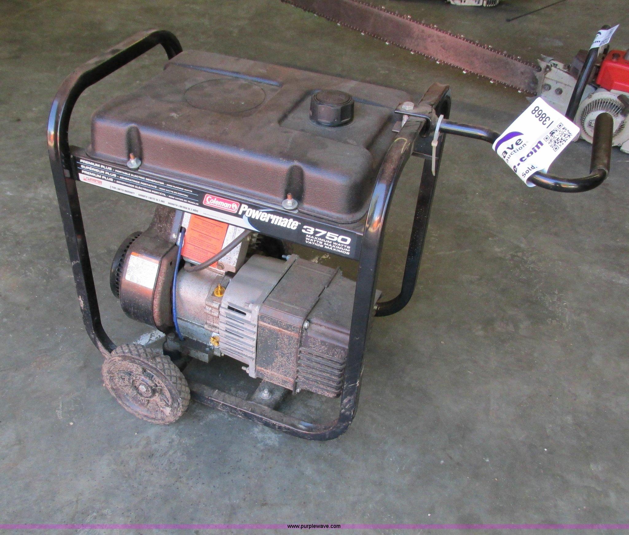 Coleman Powermate 3750 generator | Item I3868 | SOLD! August