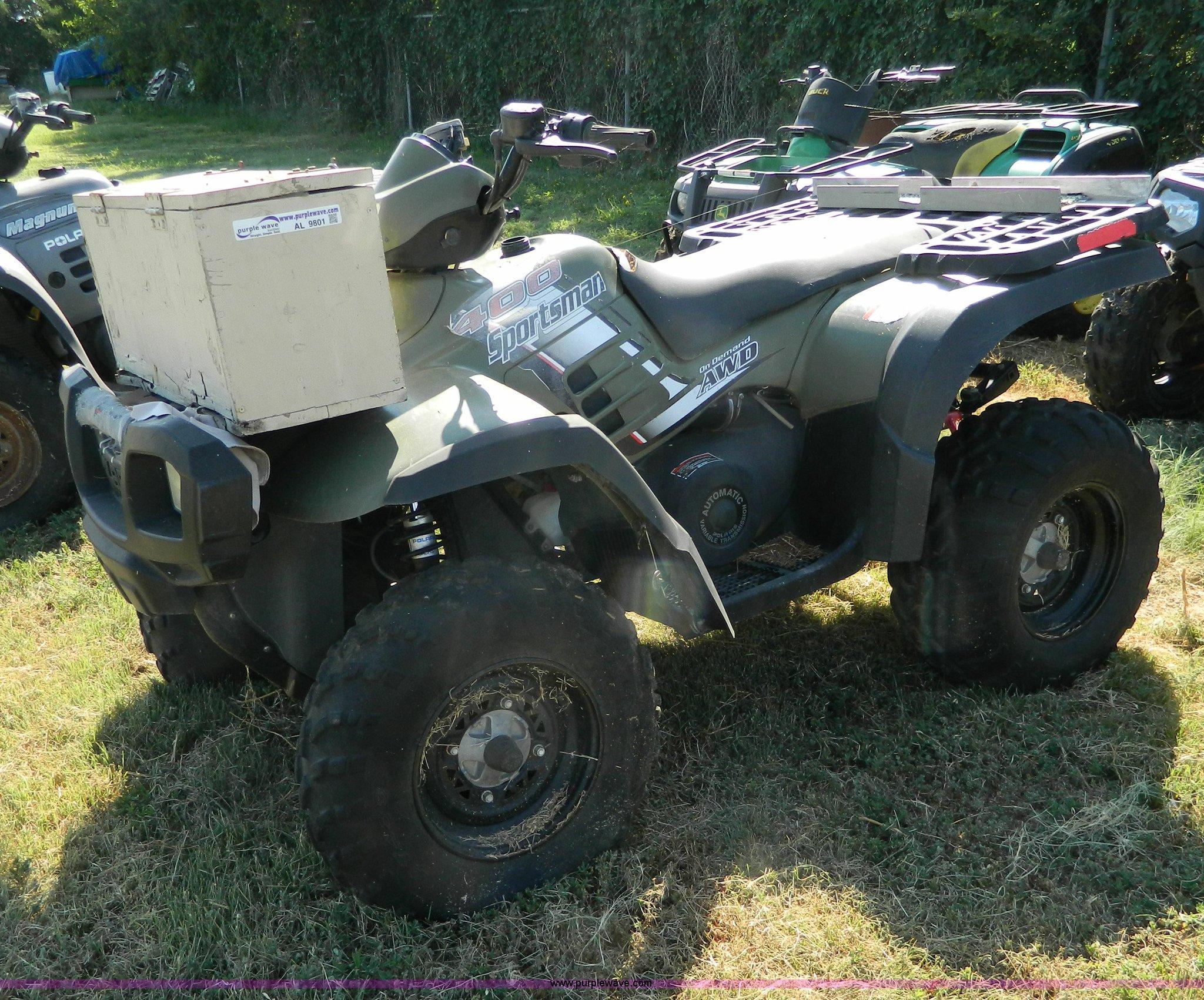 2004 Polaris Sportsman 400 ATV   Item AL9801   SOLD! Septemb