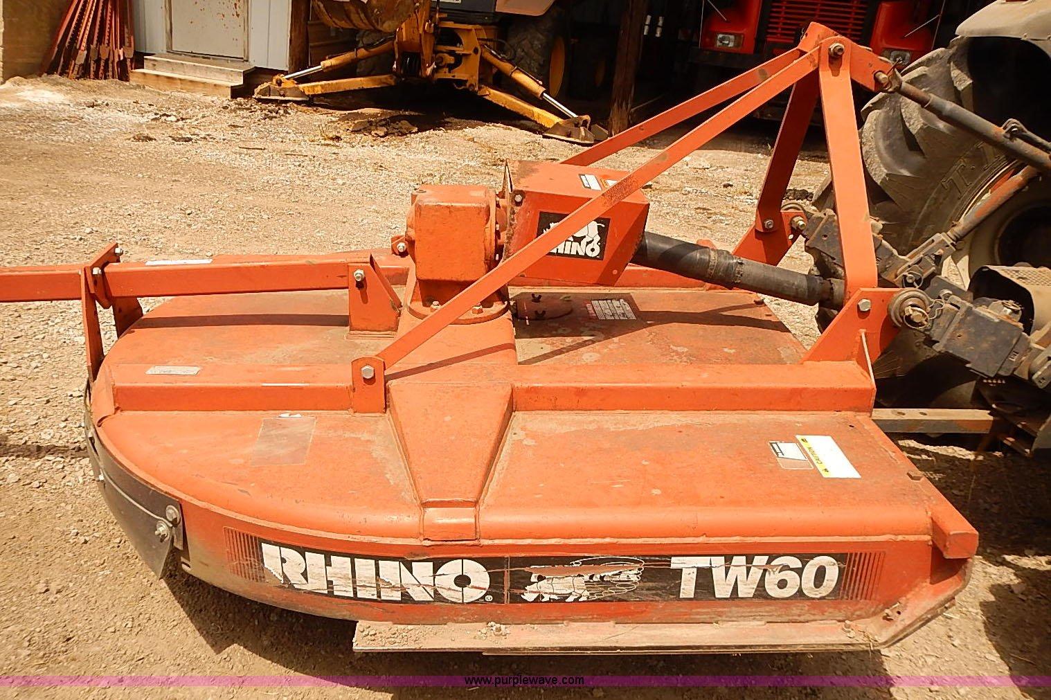 Rhino TW60 rotary mower | Item BA9575 | SOLD! September 9 Go