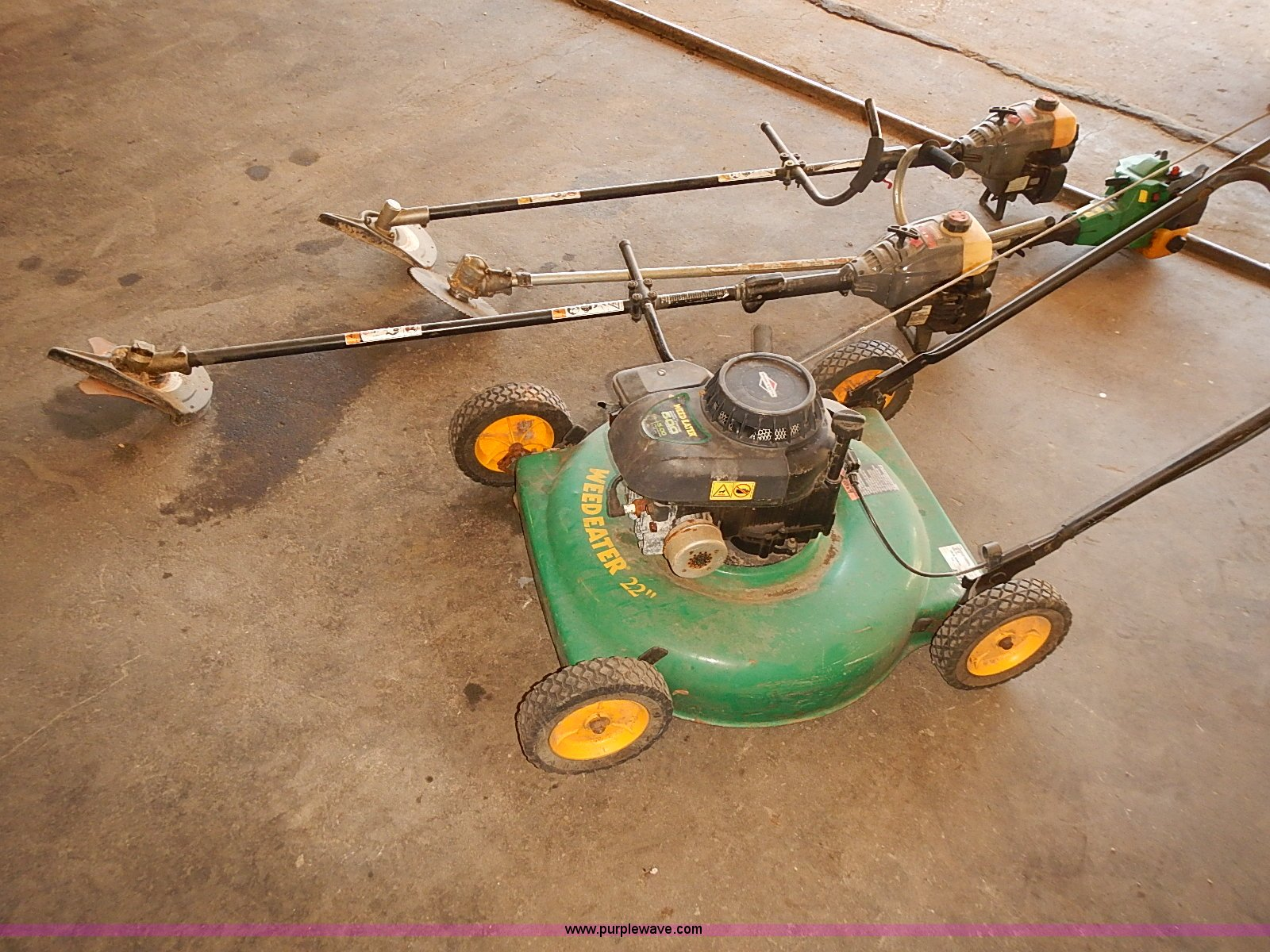 Assorted lawn and garden equipment | Item BA9625 | SOLD! Sep...
