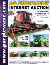 View September 10 Ag Equipment Auction flyer