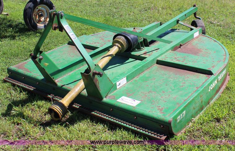 John Deere 717 rotary mower | Item J2221 | SOLD! September 1