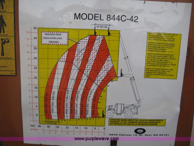 1997 lull 844c 42 highlander telehandler item h5262 sold Gehl Wiring Diagram