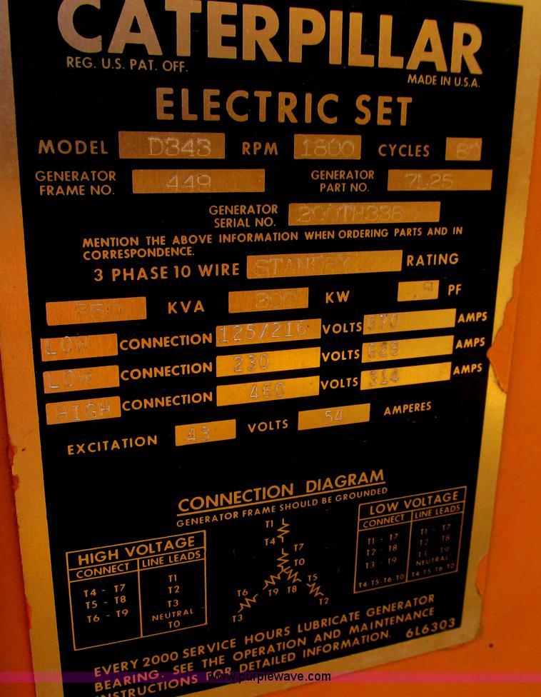 Caterpillar D343 generator | Item E4977 | SOLD! September 25... on