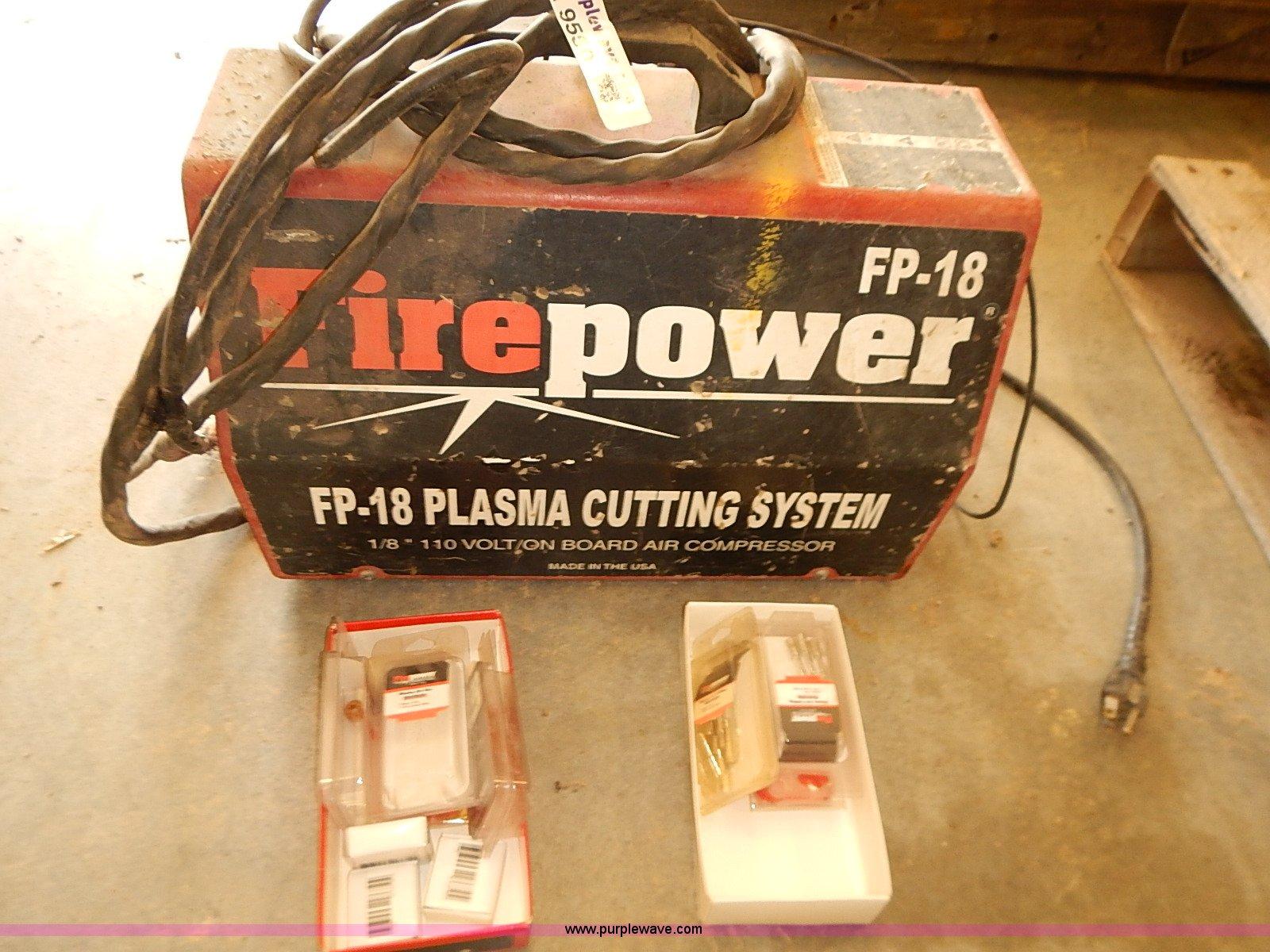 Fire Power Fp 18 Plasma Cutter Item Ba9550 Sold