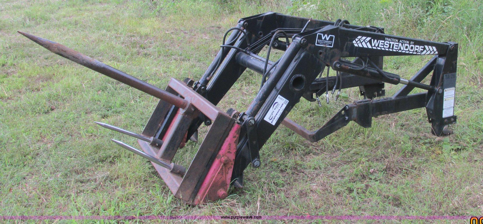 Westendorf TA26 tractor loader | Item J2419 | SOLD! October