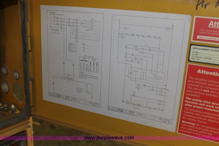 1999 Kaeser SK26 screw compressor in Pratt, KS   Item AJ9343 sold   Purple  WavePurple Wave