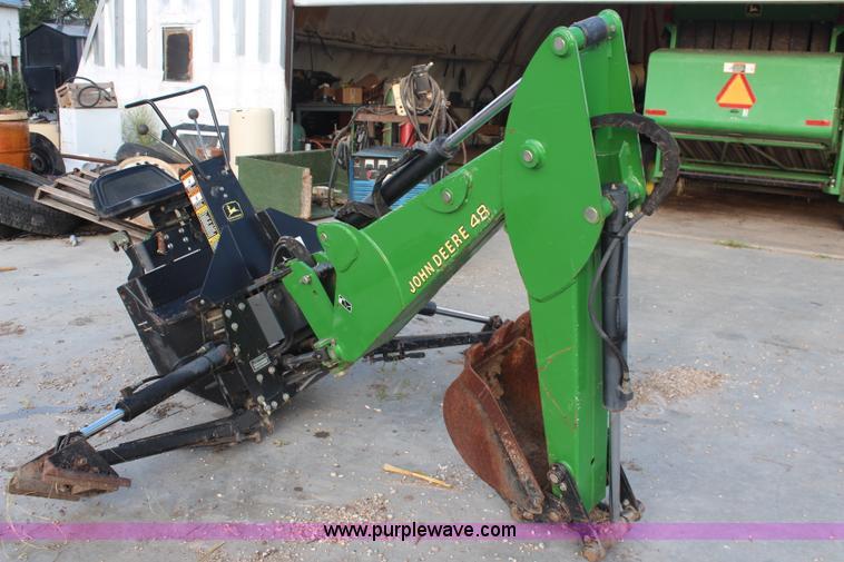 John Deere Backhoe Attachment >> John Deere 48 Backhoe Attachment Item Av9462 Sold Octob