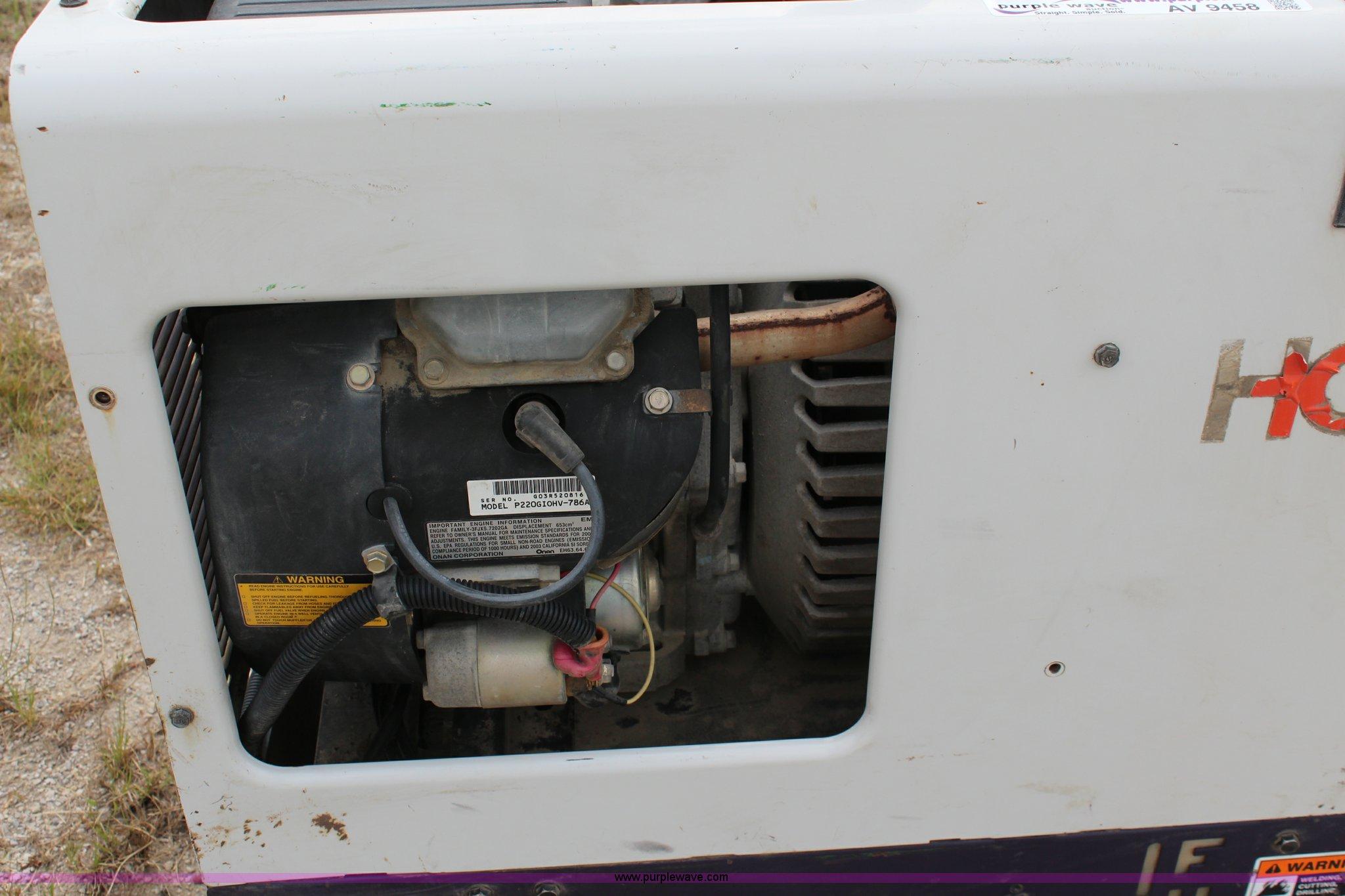 Hobart Champion 10,000 portable welder   Item AV9458   SOLD!