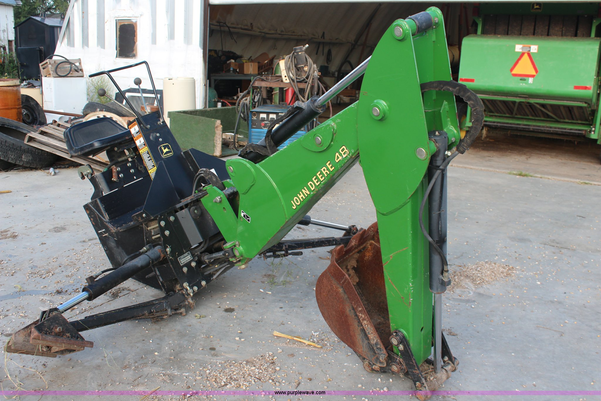 John Deere Backhoe Attachment >> John Deere 48 Backhoe Attachment Item Av9462 Sold Octob