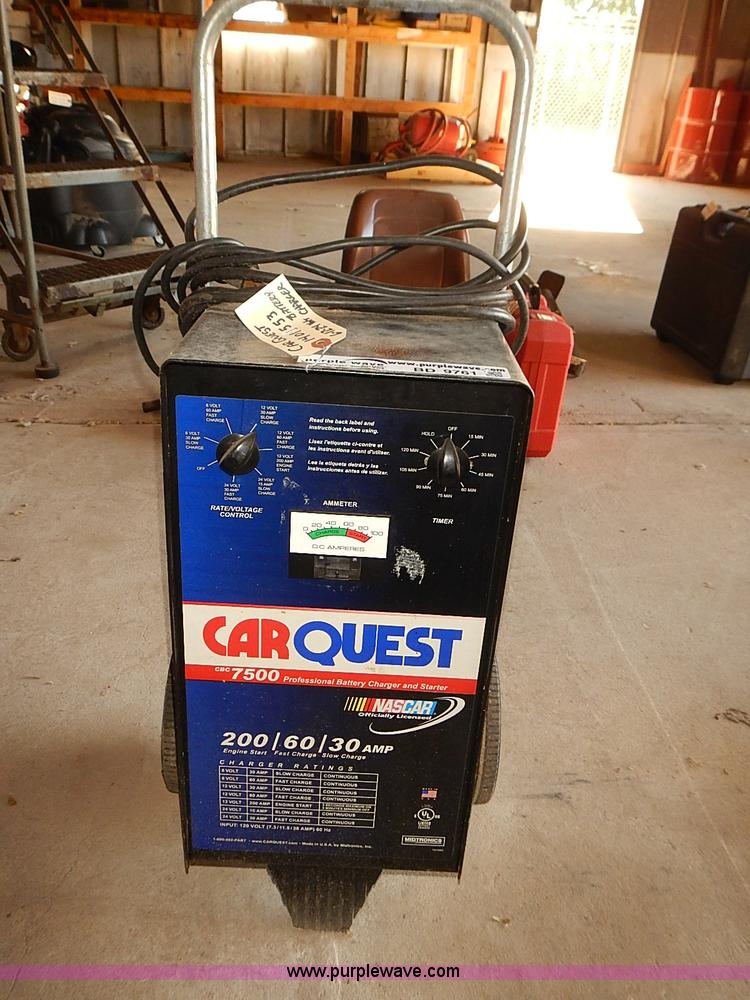 Carquest Cbc 7500 110 Ac Battery Charger Item Bd9761 Sol
