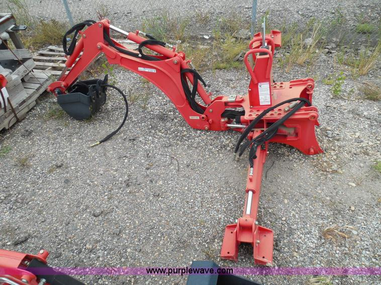 Compact tractor backhoe attachment | Item AZ9656 | SOLD! Oct