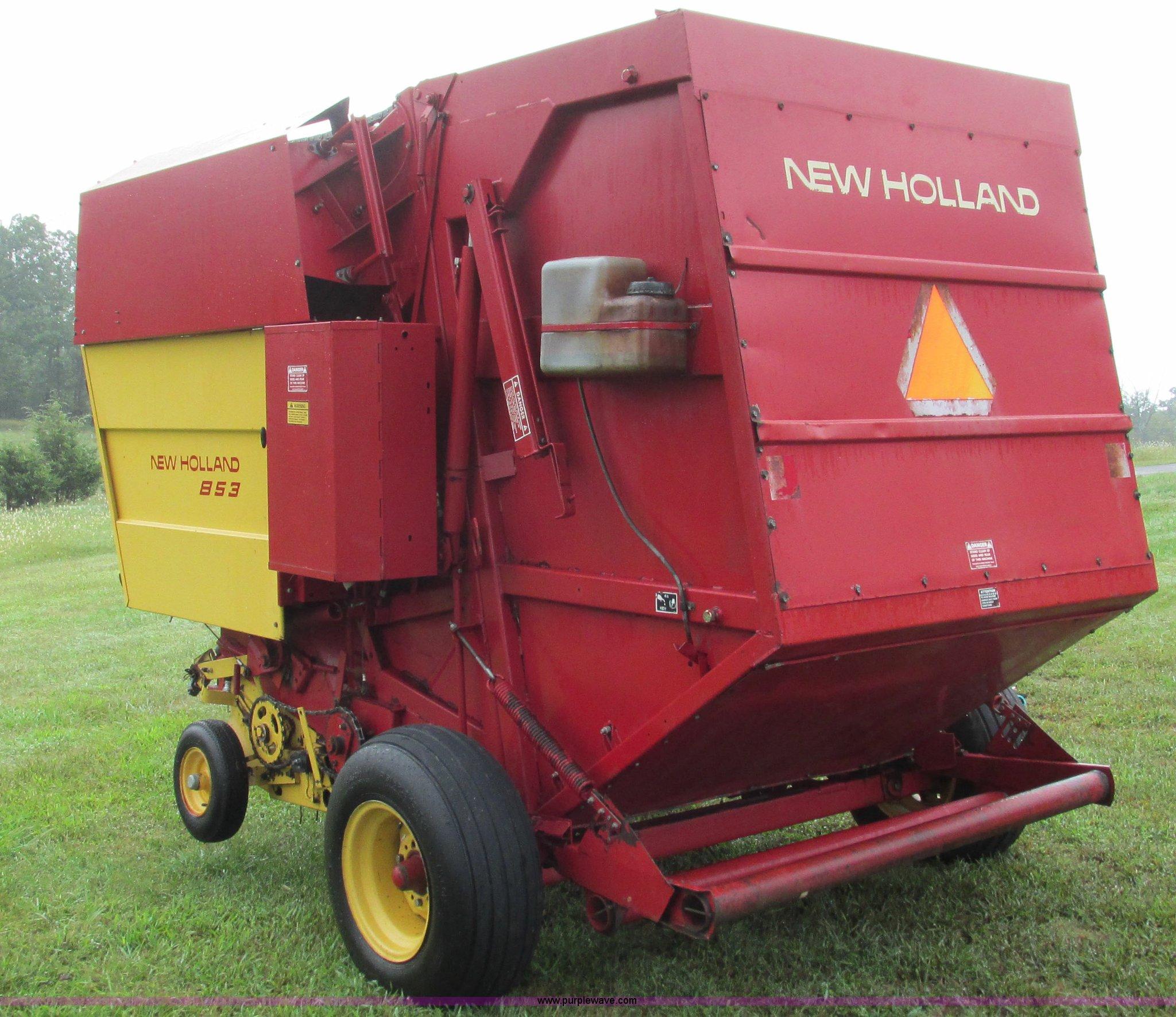 WRG-9303] New Holland 853 Round Baler Operators Manual