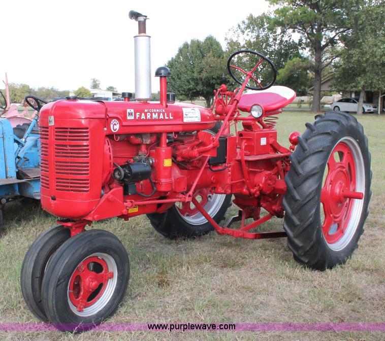 Farmall C Tractor : Mccormick farmall super c row crop tractor item