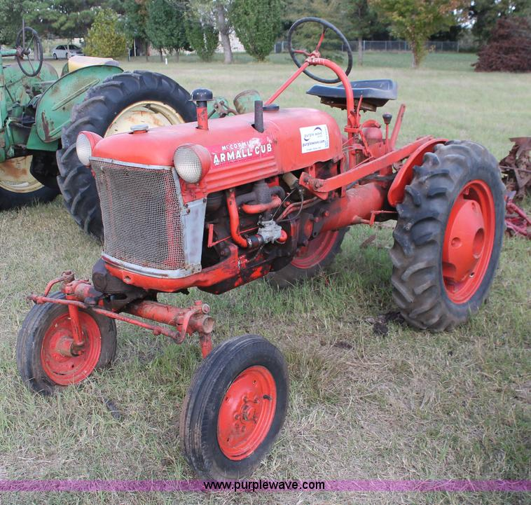 1948 Farmall Cub : Mccormick farmall cub tractor item h sold