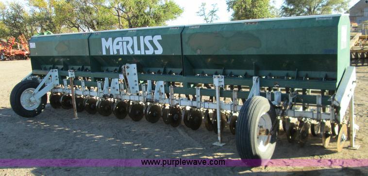 Marliss Grain Drill Item H9423 SOLD November 19 Ag Equi