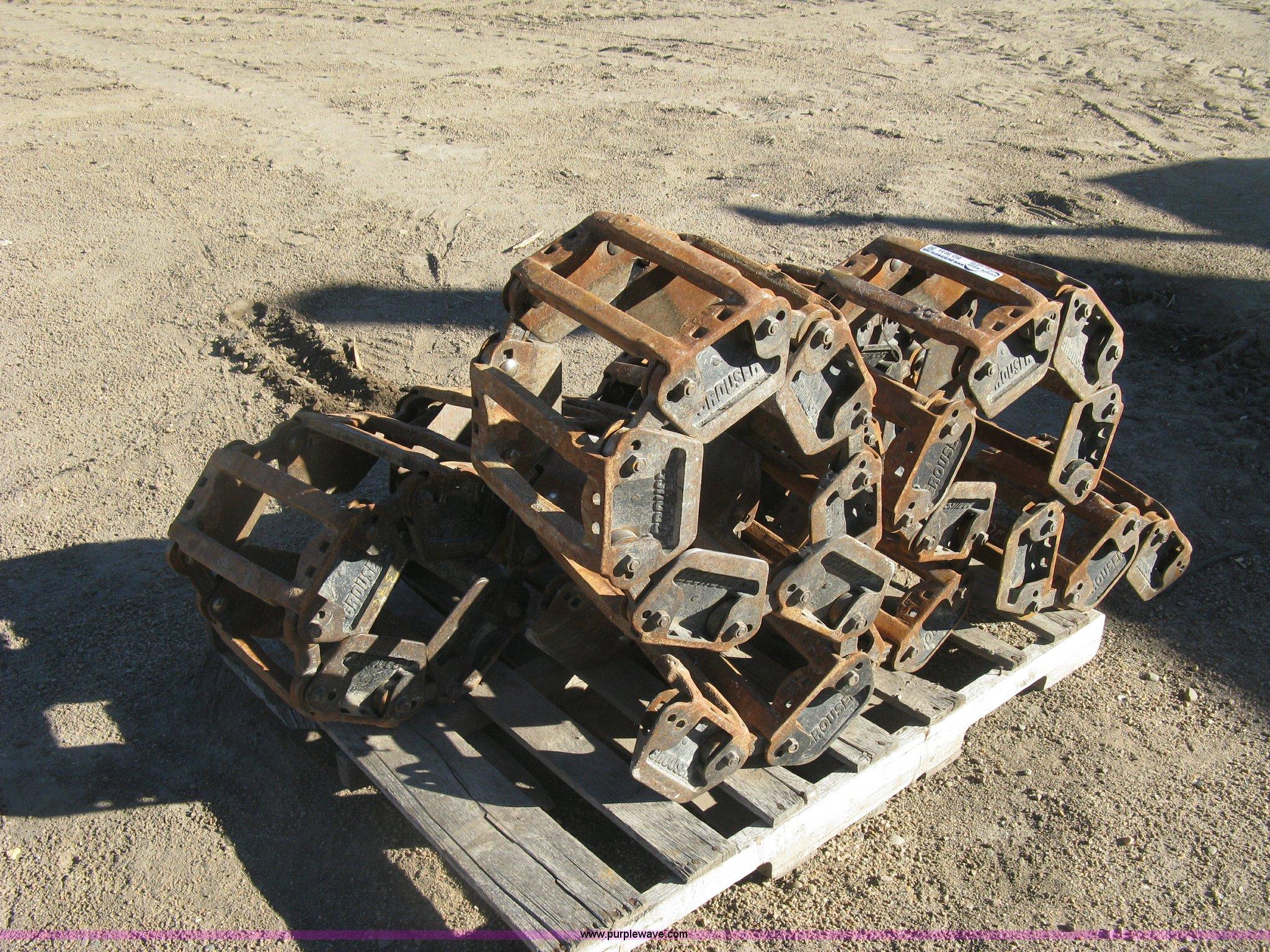 2 Grouser 7512f Steel Over Tire Skid Steer Tracks Item B