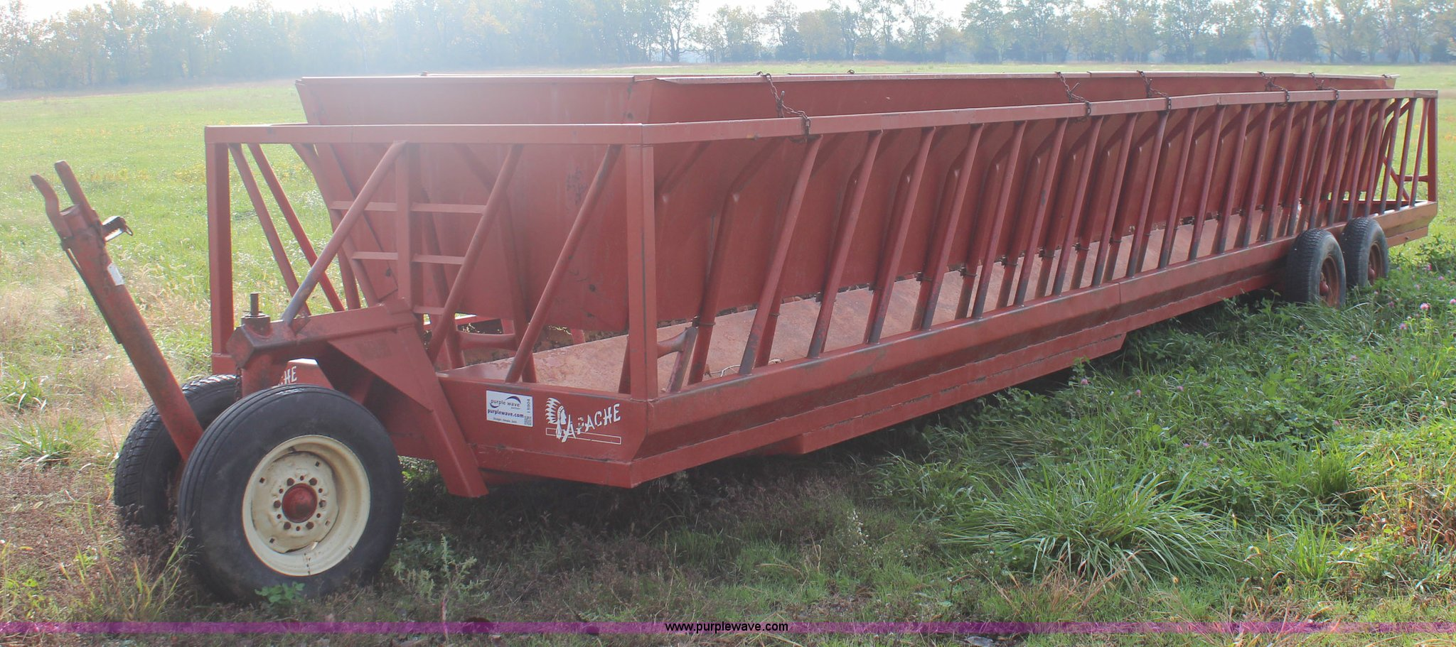 full in hay sold sep auction item feeder liberty new wagon bale size window