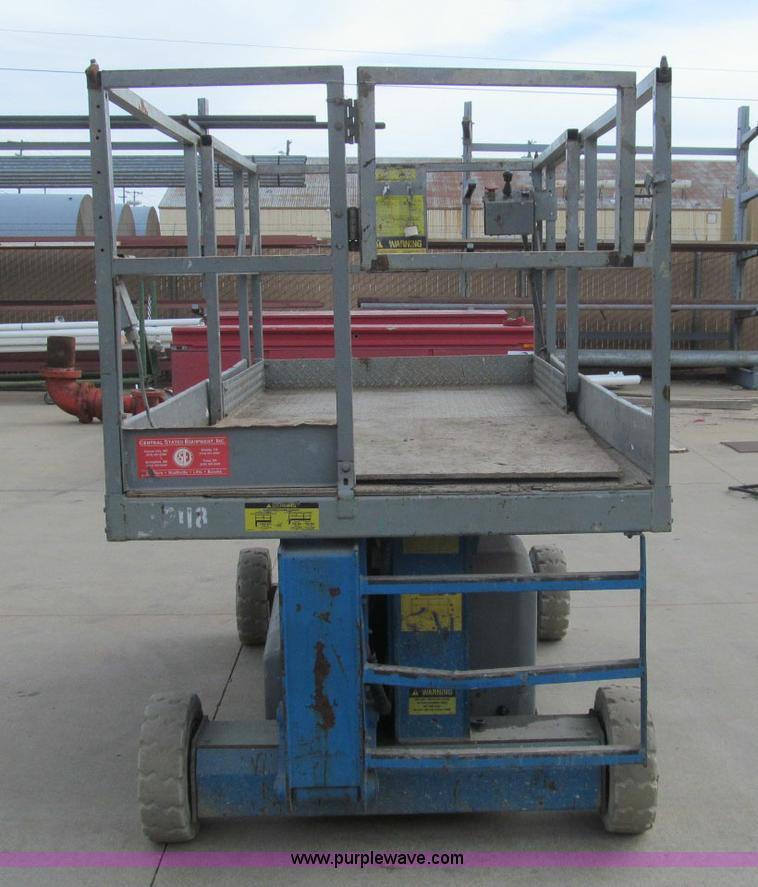 Genie V-1854 electric scissor lift | Item H9461 | SOLD! Nove