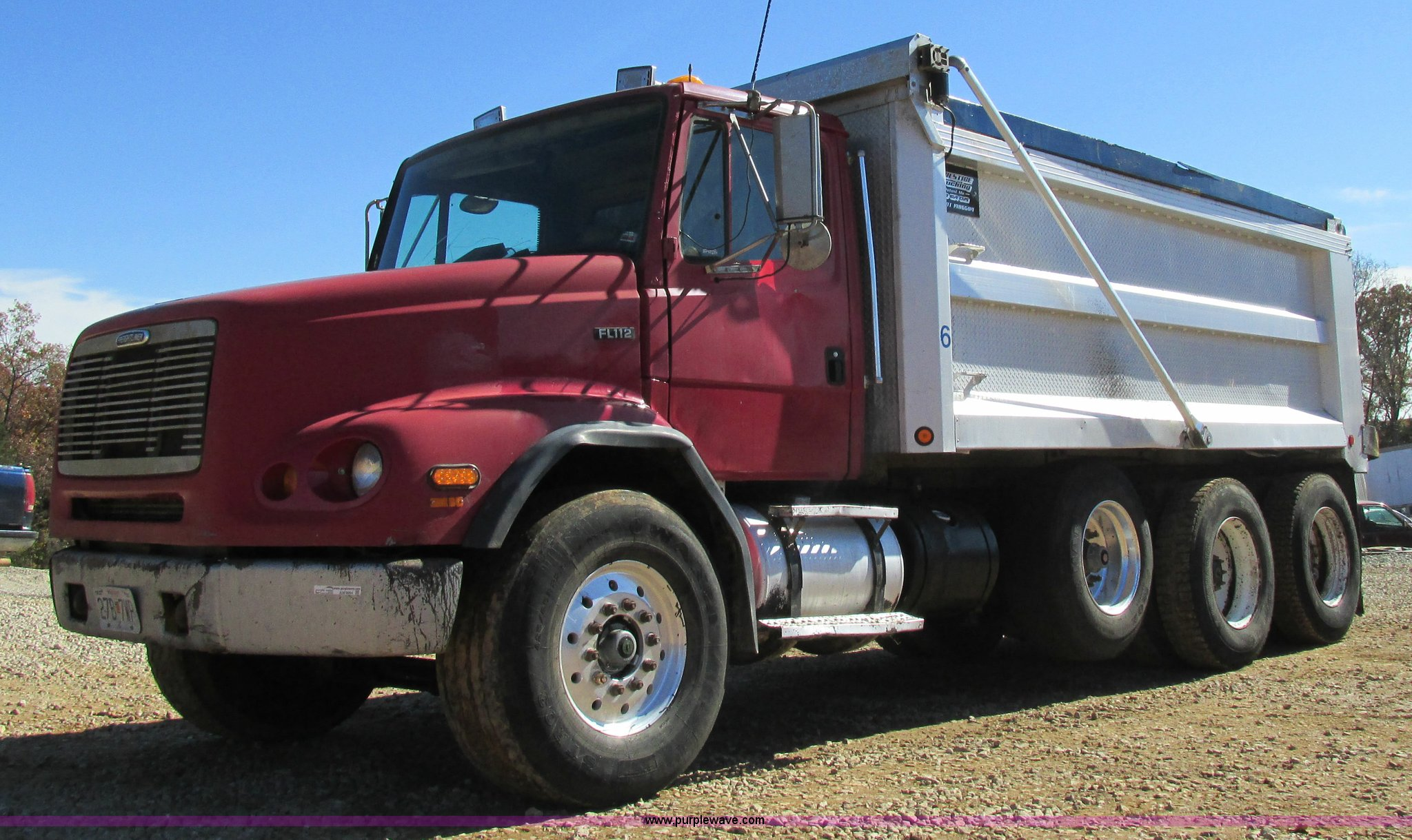 1999 Freightliner FL112 dump truck   Item AW9864   SOLD! Nov
